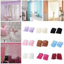 Sweet Cute Heart Tulle Voile Door Window Curtains Drape Sheer Scarf Valance W0O7