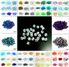 Wholesale 500pcs bicone crystal glass 5301# 4mm loose spacer Jade Bead 150 color