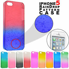 Water Pattern 3D Raindrop Hard Case Cover / Tempered Glass for Apple iPhone 5S 5