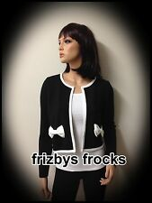 NEW BLACK SWEET BOWKNOT JACKET / CARDIGAN SIZE-L-XL
