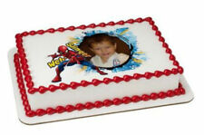 Spiderman edible image your photo frame custom frosting cake topper icing #8388