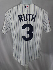 New York Yankees Baseball Babe Ruth Cooperstown Collection Sewn Jersey Stripe