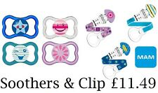 MAM Air Soother 6m+ *AND* MAM Clip and Teat Cover, Dummies and Dummy Clip- FAB!!