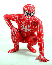 Cosplay Red Lycra Spandex Spiderman Zentai Suit Jumpsuit Costumes Fancy Dress
