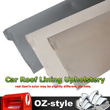Gray Beige Car Roof Lining Upholstery Fabric Headlining Headliner Backing Vinyl