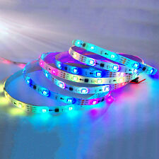 WS2811 5050 RGB LED Strip Light Waterproof Addressable Tube DC5V White Shell BG