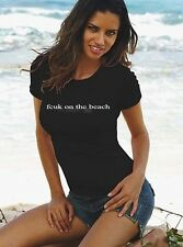 French Connection Ladies t-shirt FCUK ON THE BEACH Black XS