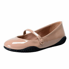 Prada Rossa Beige Patent Leather Ballet Flats Shoes Sz 6 6.5 7 7.5 8 8.5 9