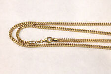 """14k Yellow Gold 3mm Franco Chain snake chain Necklace 24"""" 26""""  30"""" 32"""" 34"""" 36 38"""