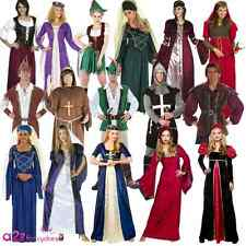 New Medieval Renaissance Robin Hood Knight Queen Tudor Adult Fancy Dress Costume