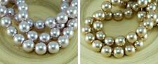 Light Pearl Czech Glass Round Beads Glass Imitation Pearls 12mm 6pcs