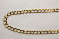 "10K Yellow Gold Hollow Cuban Link Chain Necklace 5MM 22"" - 26 inches"