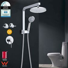 WELS Rainfall Handheld Shower Head Brass Wall Shower Arm & Mixer Tap
