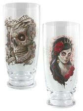 Spiral Day Of The Dead - Set of 2 Drinking Glasses