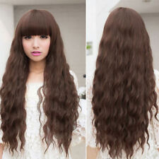 Beauty Fashion Womens Lady Long Curly Wavy Hair Full Wigs Cosplay Party FE