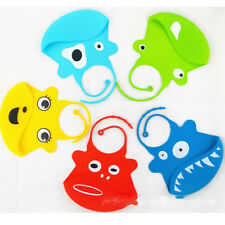 Silicone Bibs Thicken Toddler Baby Bib Cartoon Animal Gift Feeding Eating Saliva