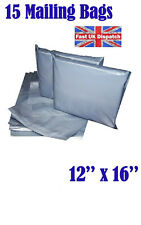 15 Mailing Bags 12x16 Cheap Strong Grey Plastic Poly Postal Postage  Auct 2