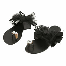 Bow Tie Sandals Flip Flops Platform Shoes Beach Pool Summer Womens Girls BG