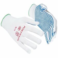 5 PAIRS OF PORTWEST NYLON POLKA DOT WORK GLOVES SAFETY GRIP A110 QUALITY