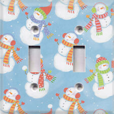 Christmas Holiday Snowmen #2~ Light Switch Cover~Home Decor~Choose Your Plate~