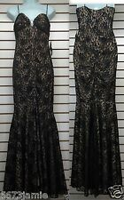 BLONDIE NITES Women Black Lace Evening Cocktail Party Prom Dress MSRP$199 sz 5