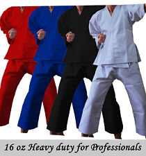 Professional heavy 16 oz Adults/Kids White Black Red Karate Suit GI martial arts