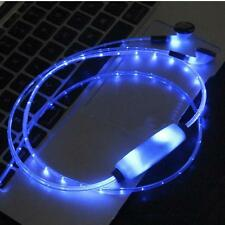 Visible Flowing LED Flash Light Stereo Glow Earphone Headset With Microphone New