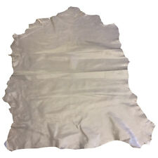 Light Gray Genuine Lambskin Leather Tanned Sheepskin Hide with Rustic Pull FS914