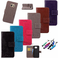 For Samsung Various Pattern Flip Stand Leather Card Hoder Wallet Case Cover+Gift