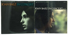 Joan Beaz Lot of 2 Vinyl Record Albums In Concert Part 1 and 2 One Two