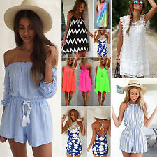 Womens Celeb Shorts Beach Sun Dress Party Evening Sexy Playsuit Maxi Jumpsuit