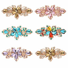 Crystal Flower Hair Clip Barrette Hairpin Clamp Hair Pin Rhnistone Hairpin BG