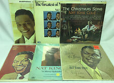 Nat King Cole Lot of 6 Vinyl Record Albums - Love is the Thing Greatest Top Pops