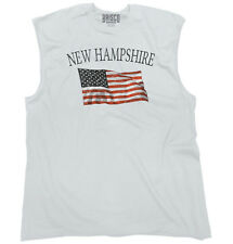 New Hampshire Patriotic Home State American USA T Shirt Cool Sleeveless Tee