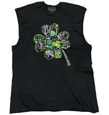 Shamrock St. Patricks Day Beer Irish Drunk Funny Humor T Shirt Sleeveless Tee