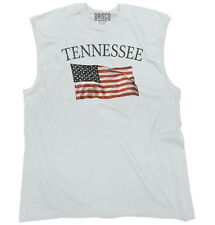 Tennessee Patriotic Home State American USA T Shirt Flag Gift Sleeveless Tee