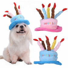 Pet Dog Happy Birthday Cake Candle Hat Colorful Cap Clothing Styling Accessory