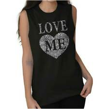 Love Me Women Shirts Funny Picture Shirt Cute Humor Gift Cool Sleeveless Tee