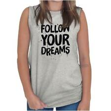 Follow Your Dream Women Shirts Funny Picture Shirt Cute Cool Sleeveless Tee