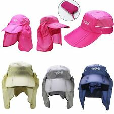 Sport Fish Hiking Camping Hat UV Protection Face Neck Cover Flap Sun Cap #GY