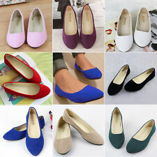 New Women's Ladies Microsuede Flat Shoes Casual Slippers Casual Business Oxfords