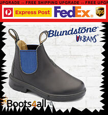 Blundstone Urbans Kids Brown Leather School Dress boots Blue Room-to-Grow 580
