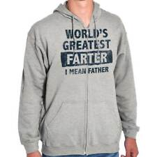 Worlds Greatest Farter Father's Day Funny Humorous T Shirt Zipper Hoodie