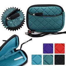 Quilted Water Resistant Digital Camera Protective Pouch Zipper Case FGL2ZZ3-7