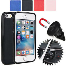 For Apple iPhone SE Magnetic Car Vent Mount & Fitted Case Cover