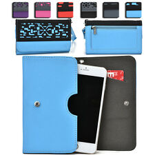 Women's Protective Wallet Case Cover for Smart Cell Phones by KroO ESDC-2 LG