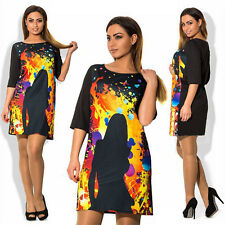 Summer Dress big size O-neck Casual Dress Plus Size Elegant Print chothing women