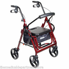 Duet Transport Chair Wheelchair - Rollator Walker: 2 in 1 COMBO by Drive Medical