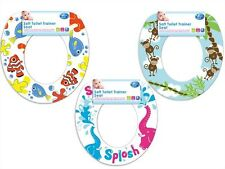 Toddlers Printed Soft Foam Toilet Trainer Seat 3 Designs Fish Monkey Elephant