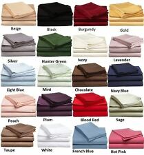 1000-TC 5-PC Soft Split Sheet Set Solid 100% Cotton Queen All Desired Color